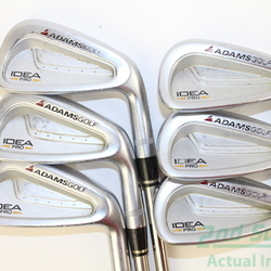 Adams Idea Pro Iron Set 5-PW True Temper Black Gold Steel Stiff Right Handed 37.75 in Used Golf Clubs