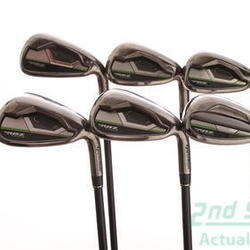 TaylorMade RocketBallz Max Iron Set 7-PW GW SW TM RBZ Matrix Ozik Program 55 Graphite Regular Right Handed 37.5 in Used Golf Clubs
