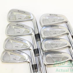 TaylorMade Rac Forged CB TP Iron Set 3-PW True Temper Dynamic Gold S300 Steel Stiff Right Handed 38 in Used Golf Clubs